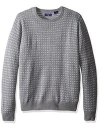 Gant Jacquard Crewneck Sweater