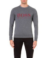 Hugo Boss Logo Print Cotton Blend Jumper