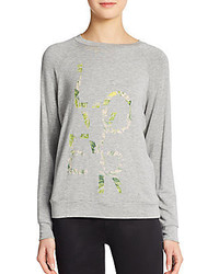 Haute Hippie Lover Floral Print Sweatshirt