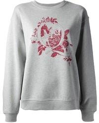 McQ by Alexander McQueen Floral Logo Printed Sweatshirt