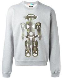 MSGM Robot Print Sweatshirt