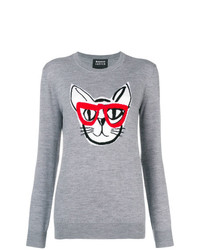 Markus Lupfer Natalie Intarsia Geek Cat Sweater