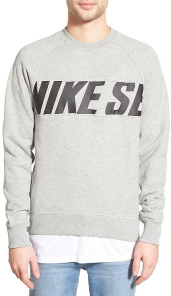 e105eec172eb ... Nike Sb Everett Motion French Terry Crewneck Sweatshirt ...