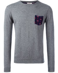 Sun 68 Crew Neck Printed Pocket Jumper