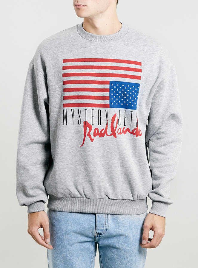 Topman Grey Vintage Oversize Mystery Jets Sweatshirt | Where to ...