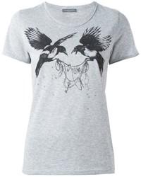 Alexander McQueen Bird Print T Shirt