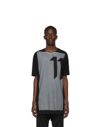 11 By Boris Bidjan Saberi Black Block Printed T Shirt