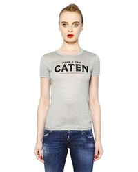 Dsquared2 Caten Printed Cotton T Shirt