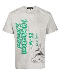 Comme des Garcons Homme Deux Comme Des Garons Homme Deux Mickeys Inventions Print Cotton T Shirt