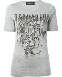 Dsquared2 Palm Tree Printed T Shirt