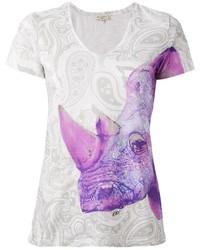 Etro Rhinoceros Print T Shirt