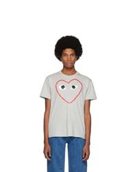 Comme Des Garcons Play Grey Big Heart T Shirt