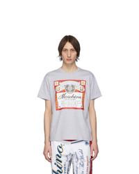 Moschino Grey Budweiser Edition Logo T Shirt