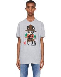 DSQUARED2 Grey Canadian Pug T Shirt