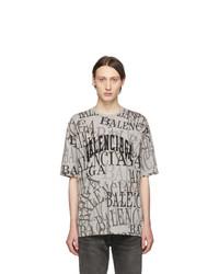 Balenciaga Grey Chinatown T Shirt