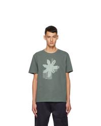 AFFIX Grey Circuit Board T Shirt
