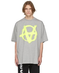 Vetements Grey Double Anarchy T Shirt