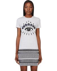 Kenzo Grey Eye Print T Shirt
