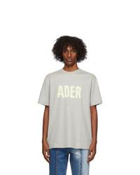 Ader Error Grey Logo Masking T Shirt