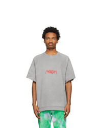 MSGM Grey Logo Short Sleeve Sweatshirt