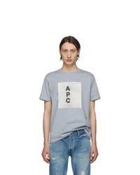 A.P.C. Grey Logo T Shirt