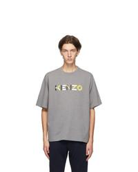 Kenzo Grey Logo T Shirt