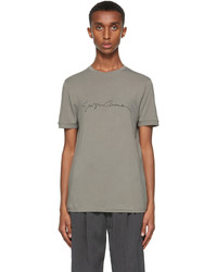 Giorgio Armani Grey Logo T Shirt