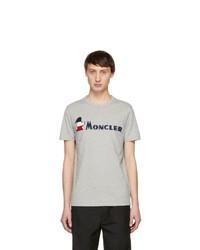 Moncler Grey Maglia Logo T Shirt