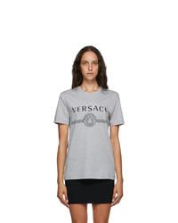 Versace Grey Medusa Logo T Shirt