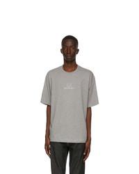 Acne Studios Grey Reflective Patch Motif T Shirt