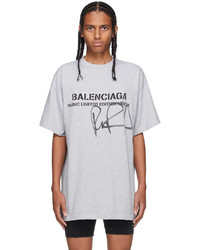 Balenciaga Grey Rupaul Edition Oversized Logo T Shirt