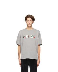 Kenzo Grey Skate Logo T Shirt