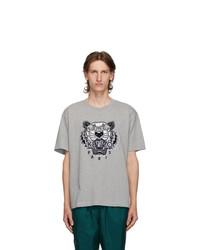 Kenzo Grey Tiger Skate T Shirt