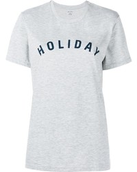 Holiday Logo Print Cotton T Shirt