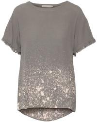 Kain Label Kain Luli Draped Printed Crepe T Shirt