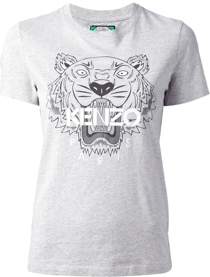 a698bbf68 Kenzo Logo Tiger Print T Shirt, $118 | farfetch.com | Lookastic.com