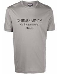 Giorgio Armani Logo Crew Neck T Shirt
