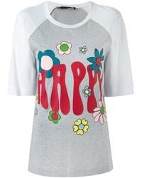 Love Moschino Happy Print T Shirt
