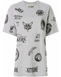 MAISON KITSUNE Maison Kitsun Logos Print T Shirt