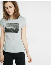 Express One Eleven Chamonix Graphic Crew Neck Tee