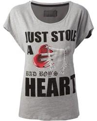 Philipp Plein Just Stole A Heart Printed T Shirt
