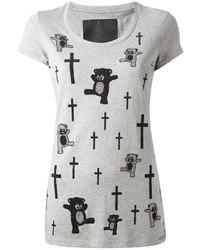 Philipp Plein Teddy Bear And Cross Print T Shirt