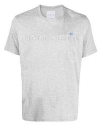 Jacob Cohen Raised Logo Crew Neck T Shirt