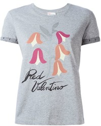 RED Valentino Head Logo Print T Shirt