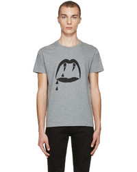 Saint Laurent Grey Blood Luster T Shirt