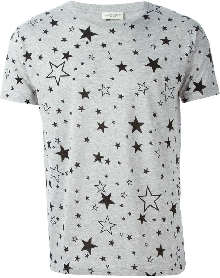 6c11a5b939af Saint Laurent Star Print T Shirt, $390 | farfetch.com | Lookastic.com