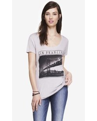 Express Scoop Neck Graphic Tee San Francisco Photo