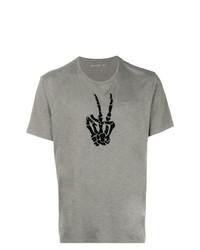 John Varvatos Skeleton Hand Print T Shirt