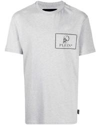 Philipp Plein Skull Logo Cotton T Shirt
