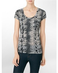 Calvin Klein Snake Print Burnout City T Shirt